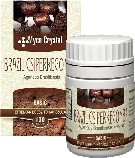 Myco Crystal Brazil csiperkegomba kapszula 100db