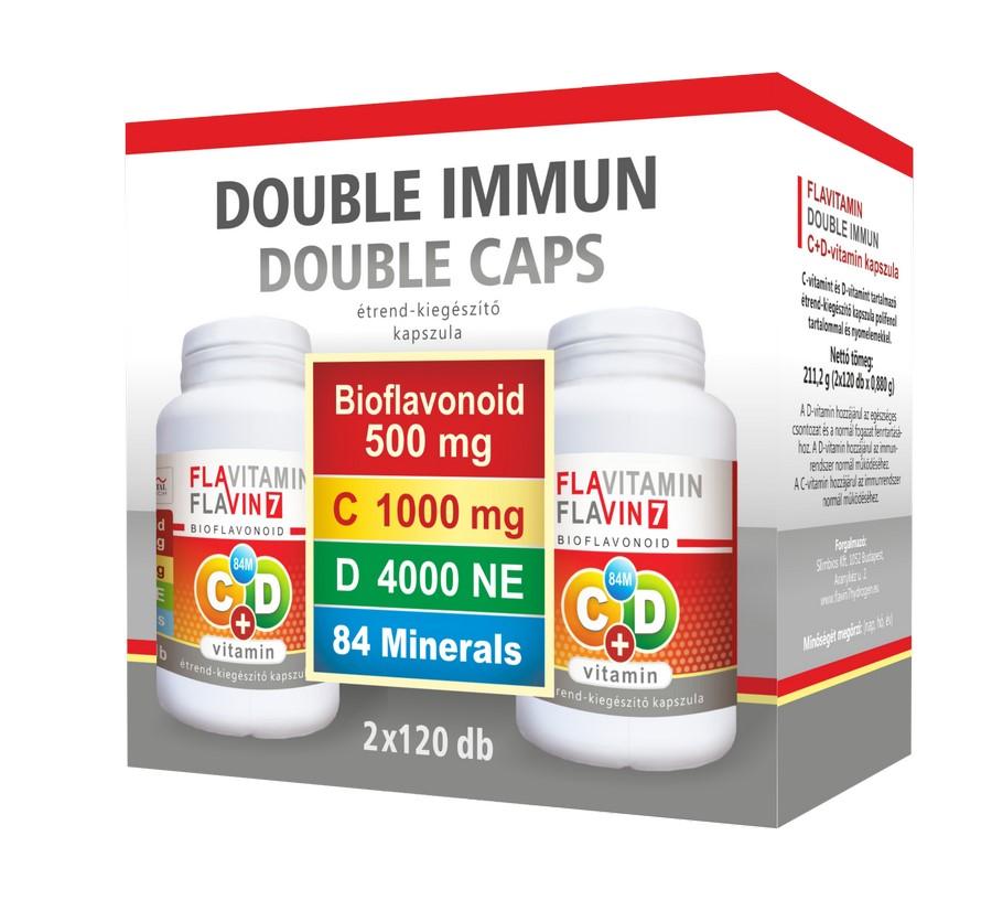 Flavitamin Double Immun C+D vitamin 2x120 kapszula