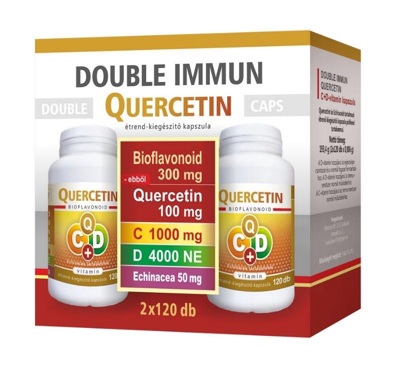 Double Immun Quercetin C+D vitamin Echinacea 2x120 kapszula